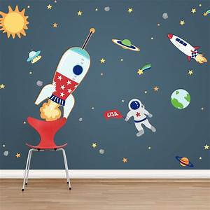 space adventures printed wall decals With space wall decals