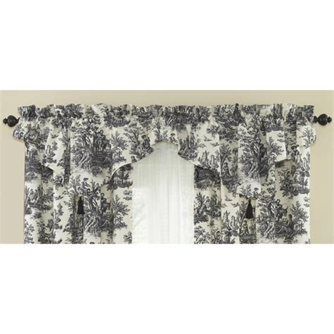 Waverly Country Life Toile Curtain Panel and Ascot Valance