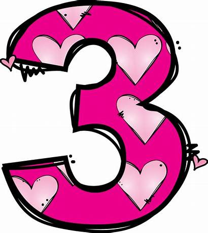 Number Clipart Clip Pink Numeros Transparent Numbers