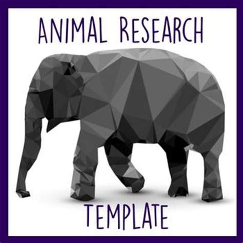 printable animal research template homeschool giveaways