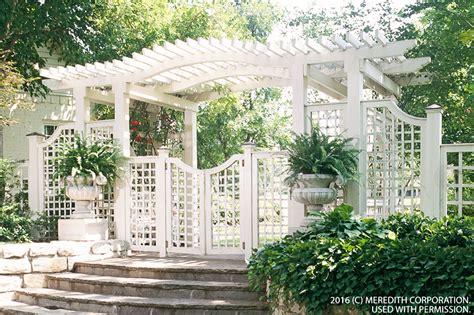 create backyard privacy with a trellis better homes and gardens real estate