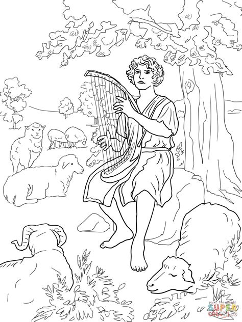 david  jonathan  coloring pages  art coloring pages