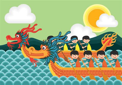 Dragon Boat Cartoon Images by Dragon Boat Festival Illustration Download Free Vector