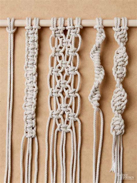 tie macrame knots