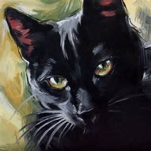 black cat painting paintings from the the witch s cat original