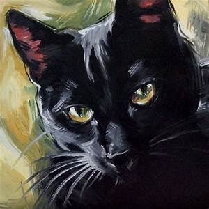 Paintings From the Parlor: The Witch's Cat - Original Oil ...