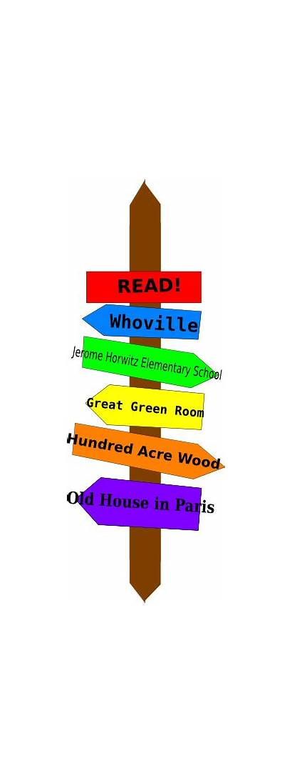 Literary Signpost Clip Clipart Clker Royalty