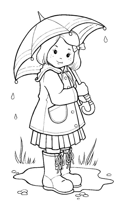 free coloring pages of image of a rainy day