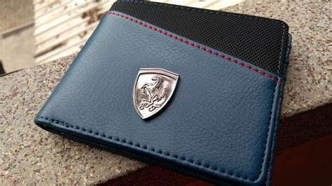 puma ferrari blue wallet  men full review