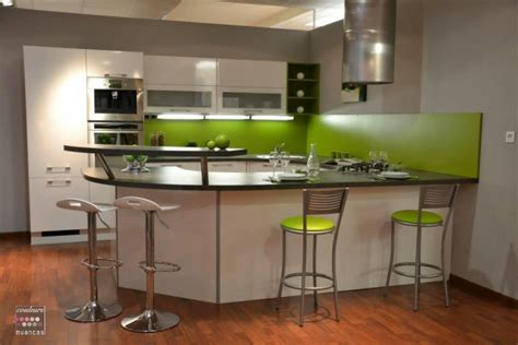 cuisine verte et blanche cuisine vert pomme et blanche