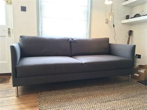 2 seater settee second second habitat hyde 3 seater sofa in charcoal with