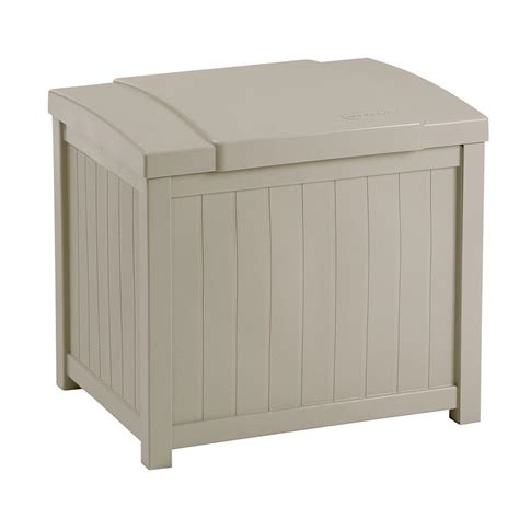 Suncast Deck Box With Seat Taupe by Suncast 22 Gal Taupe Small Storage Seat Deck Box Ss900