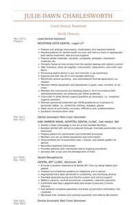 entry level dental assistant resume dental assistant