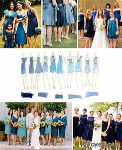 Bridesmaids in different shades of blue | Aylee Bits