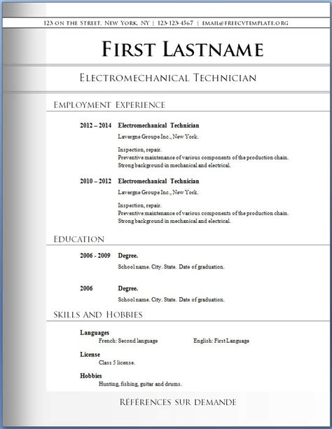 Free Downloadable Resume Templates Pdf by Free Pdf Resume Templates Template Free Resume Template