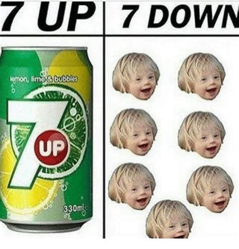 seven and seven 7 up 7 down emon limo bubbles up meme on me me