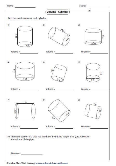 volume of a cylinder word problems worksheet math worksheets volume word problems homeshealth info