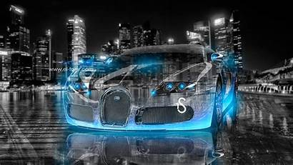 Bugatti Neon Veyron Crystal Wallpapers Tony El