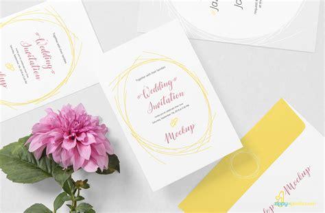 wedding card mockup psd zippypixels