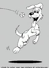Coloring Catching Dog sketch template