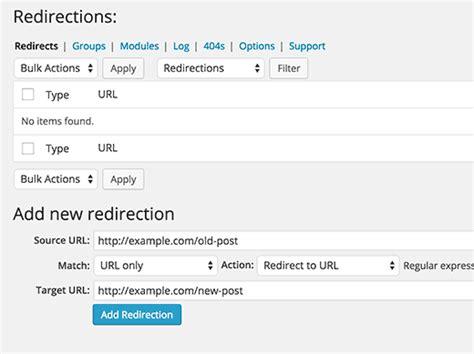 beginners guide  creating redirects  wordpress