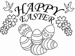 Happy Easter Coloring Page & Coloring Book