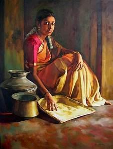 Portraying Dravidian Women by Realistic Artist Elayaraja ...