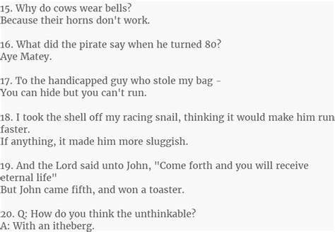 This Is The 25 Best Two Line Jokes Ever. #15 Is Simply