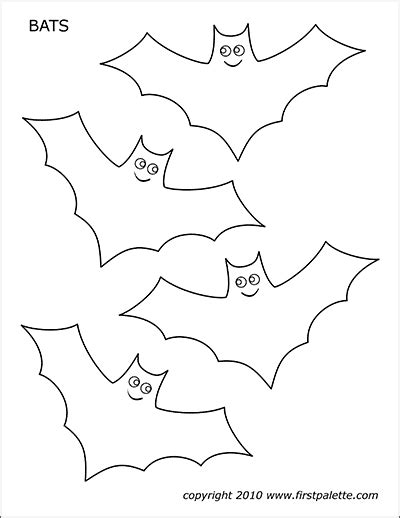 bats  printable templates coloring pages firstpalettecom