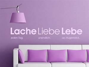 Wandgestaltung Schlafzimmer Lila : wandgestaltung trkis grau beige wandtattoo lache liebe lebe lila zusammen mit rot farbe ~ Markanthonyermac.com Haus und Dekorationen