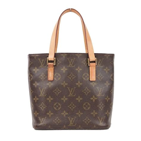 louis vuitton brown monogram canvas vavin pm tote handbag