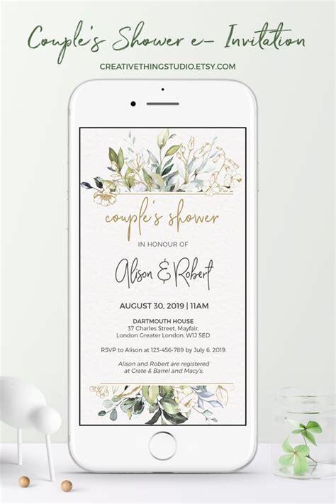 E Wedding Invitation With Photos Of Couples wedding