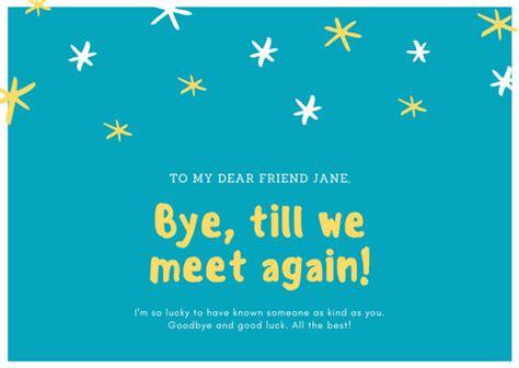 customize  farewell card templates  canva