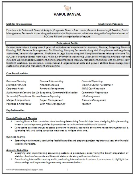 Great Resumes Templates by 10000 Cv And Resume Sles With Free Cv Resume Sle For Experienced