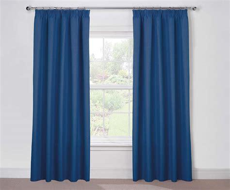 twilight lined blue pencil pleat blackout curtains harry