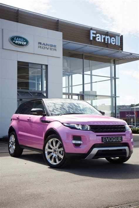 land rover dealer creates pink evoque autoevolution
