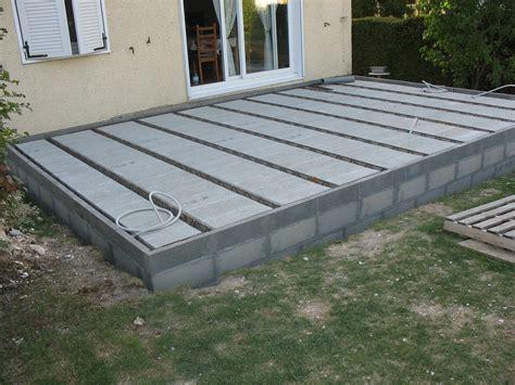 faire une dalle en beton exterieur comment faire une terrasse en dalle 2 terrasse bois ou dalle beton terrasse jardin sans dalle