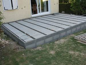 Comment faire une terrasse en dalle 2 terrasse bois ou for Realisation dalle beton terrasse
