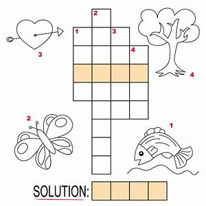 83  Easy Crossword Puzzles For Kids