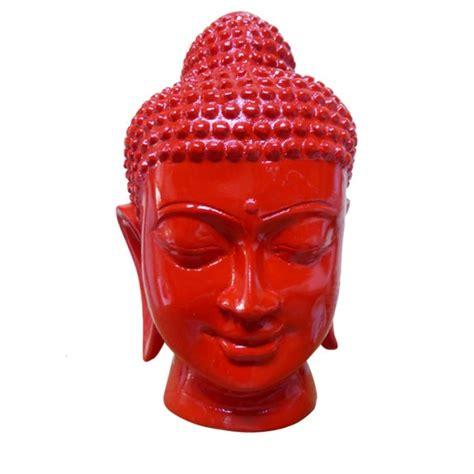 Tête De Bouddha En Résine 20 Cm  Autour De Bali