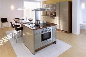 Cuisine Avec Ilot : dimension ilot central galerie avec ilot cuisine sur ~ Melissatoandfro.com Idées de Décoration