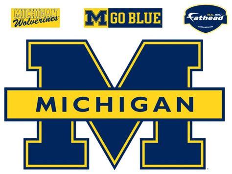 Ohio State Football Wallpaper Michigan Blue Logo Fathead Ncaa Wall Graphic