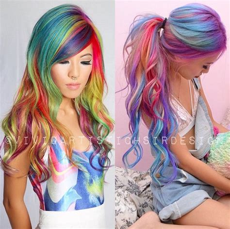 Multi Colored Hair Dont Care Images And Video Tutorials