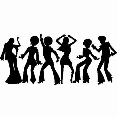 Disco Dance Danseurs Clipart Silhouettes Transparent Drawing