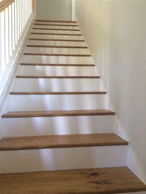 white pine floor stair treads removed carpet