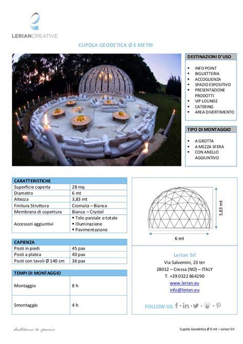 cupola geodetica lerian srl cupola geodetica 216 6 mt