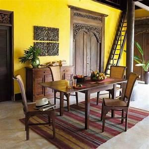 salle a manger jaune 14 idees design pour integrer la With salle À manger contemporaine avec tapis jaune scandinave