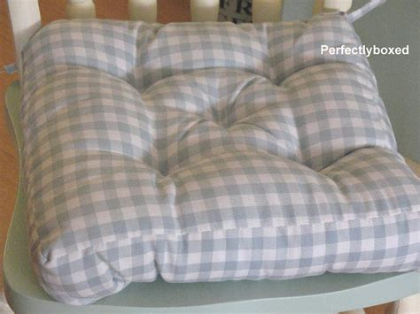 blue gingham seat pads at www perfectlyboxed