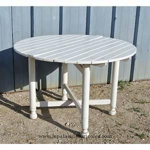 Table Jardin En Bois : grande table de jardin ronde en bois et pliante le palais des bricoles ~ Dode.kayakingforconservation.com Idées de Décoration