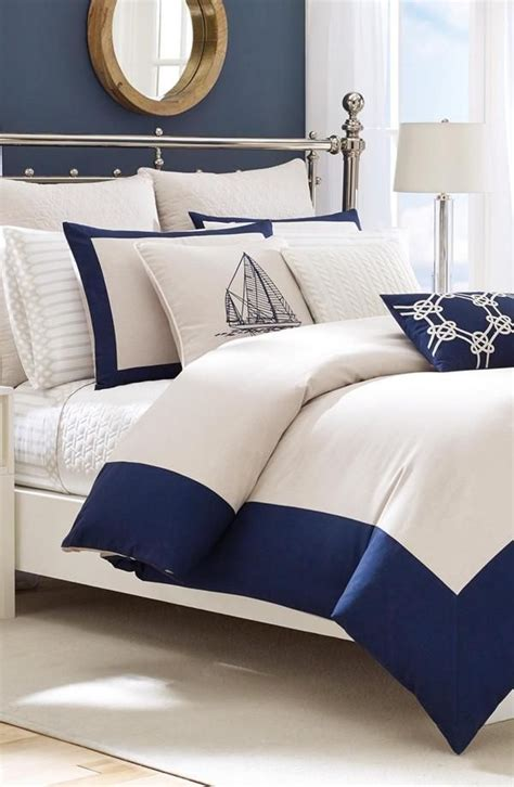 bedroom navy create a stunning nautical themed bedroom l essenziale Coastal